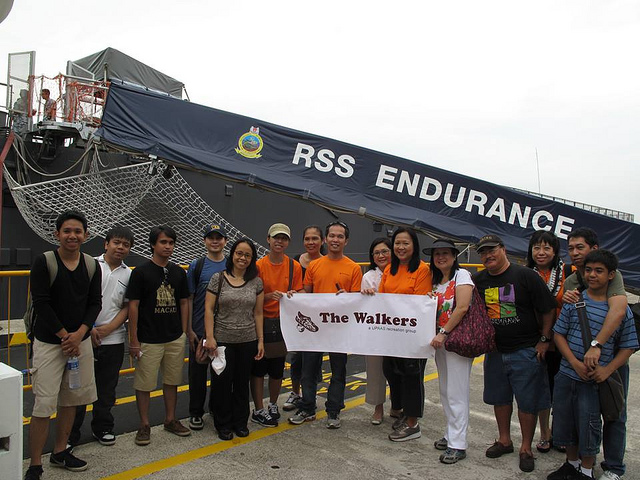 Some 30 members and friends of UPAAS went to visit the huge RSS 207 or RSS Endurance ship during the