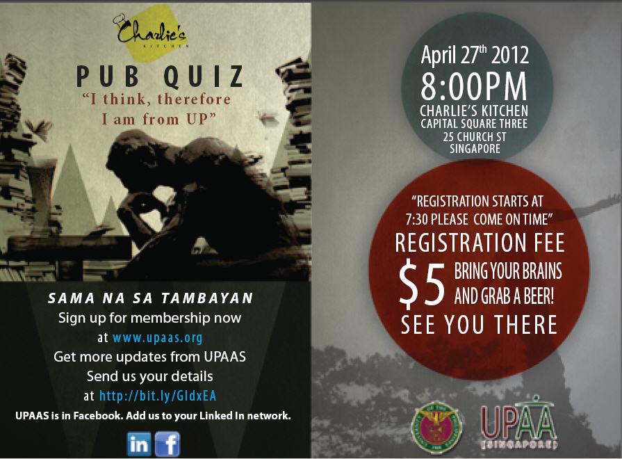 UPAAS Pub Quiz